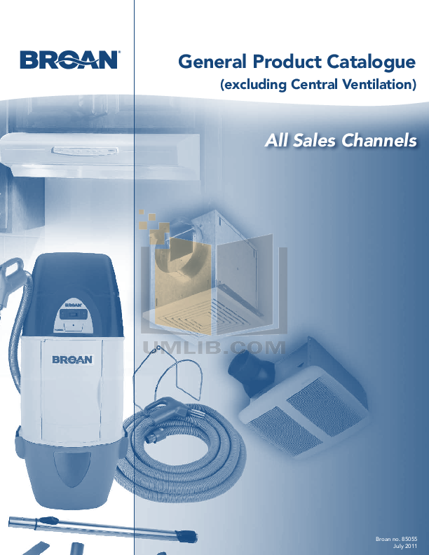 pdf for Broan-NuTone Other 153001 Hoods manual