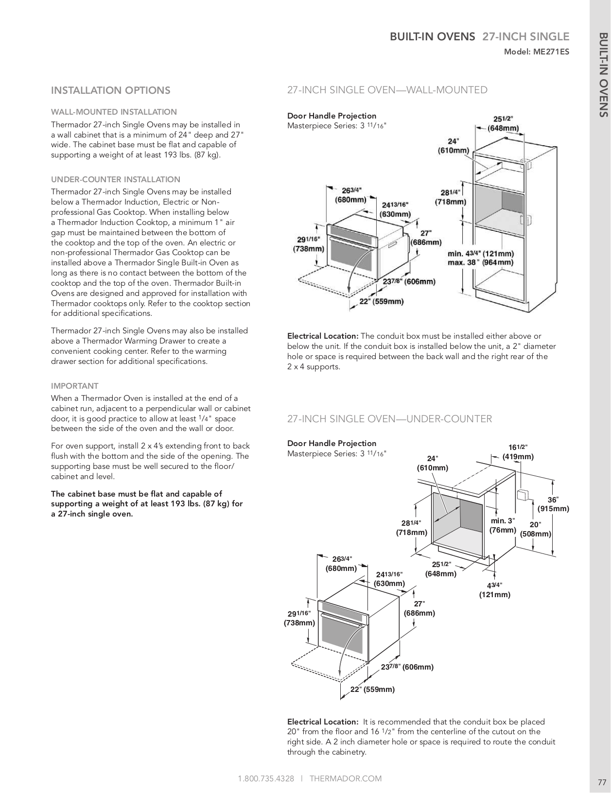 Thermador Oven DM301ES pdf page preview