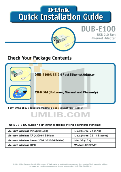 pdf for D-link Other DUB-A2 manual