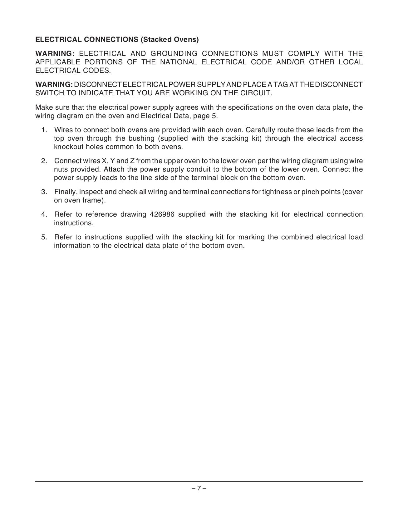 Vulcan Oven VC6EC pdf page preview