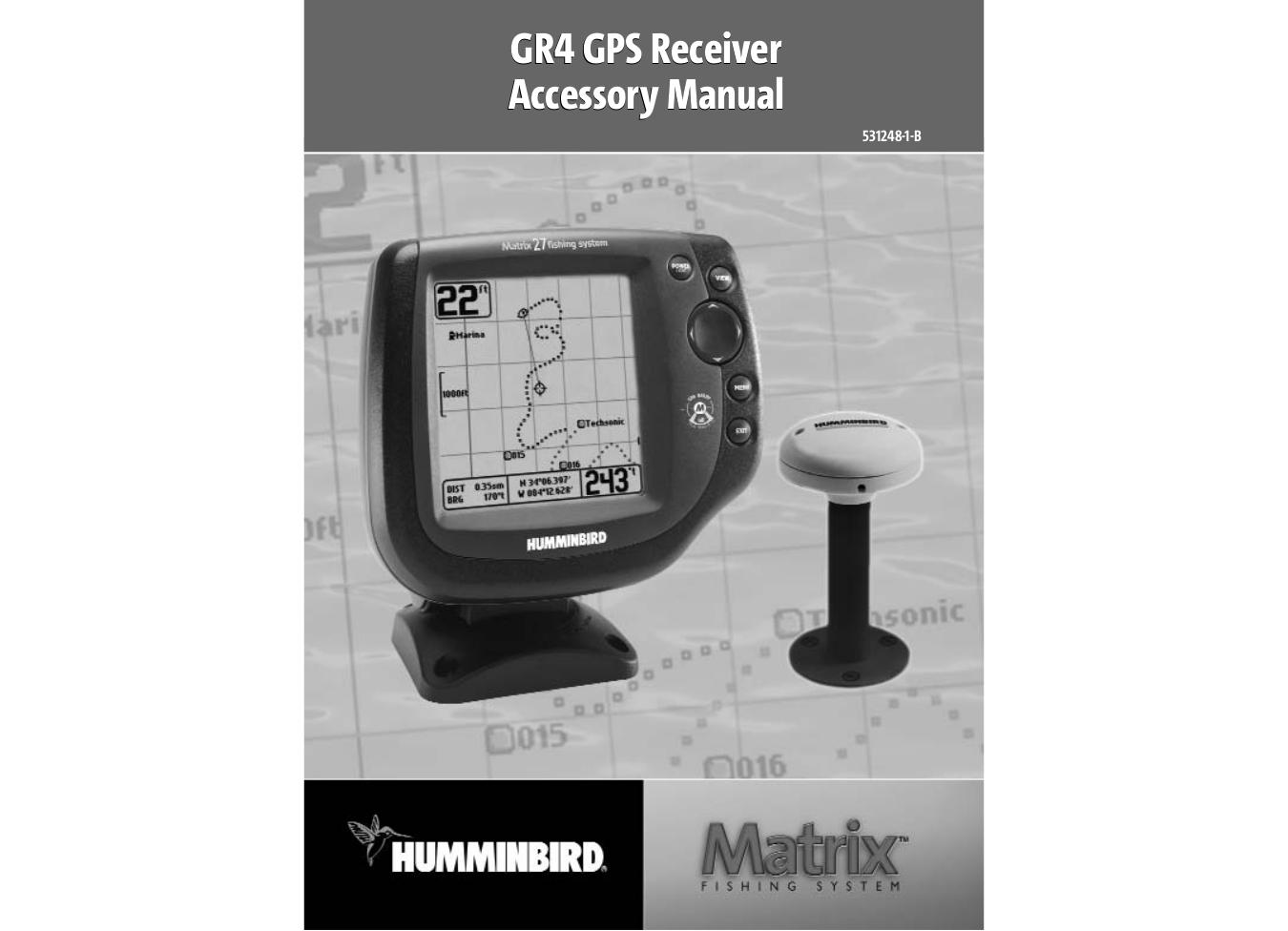 pdf for Humminbird GPS Matrix 25 manual
