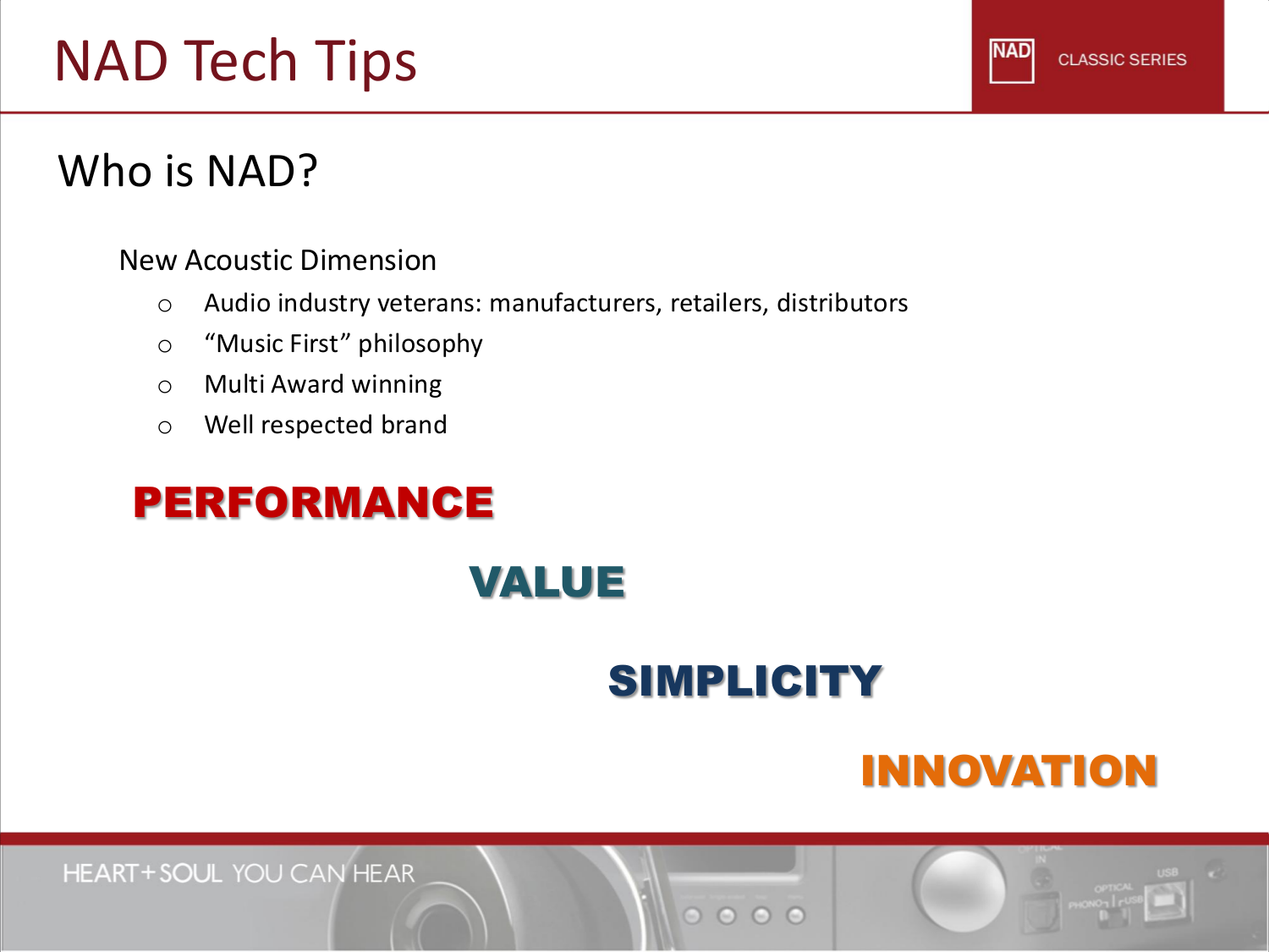 NAD Receiver T775 pdf page preview