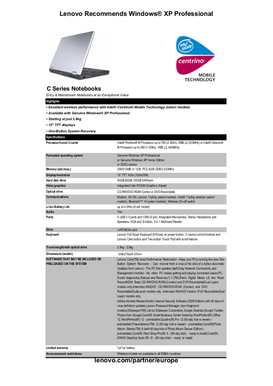 Lenovo Desktop ThinkCentre E50 8771 pdf page preview