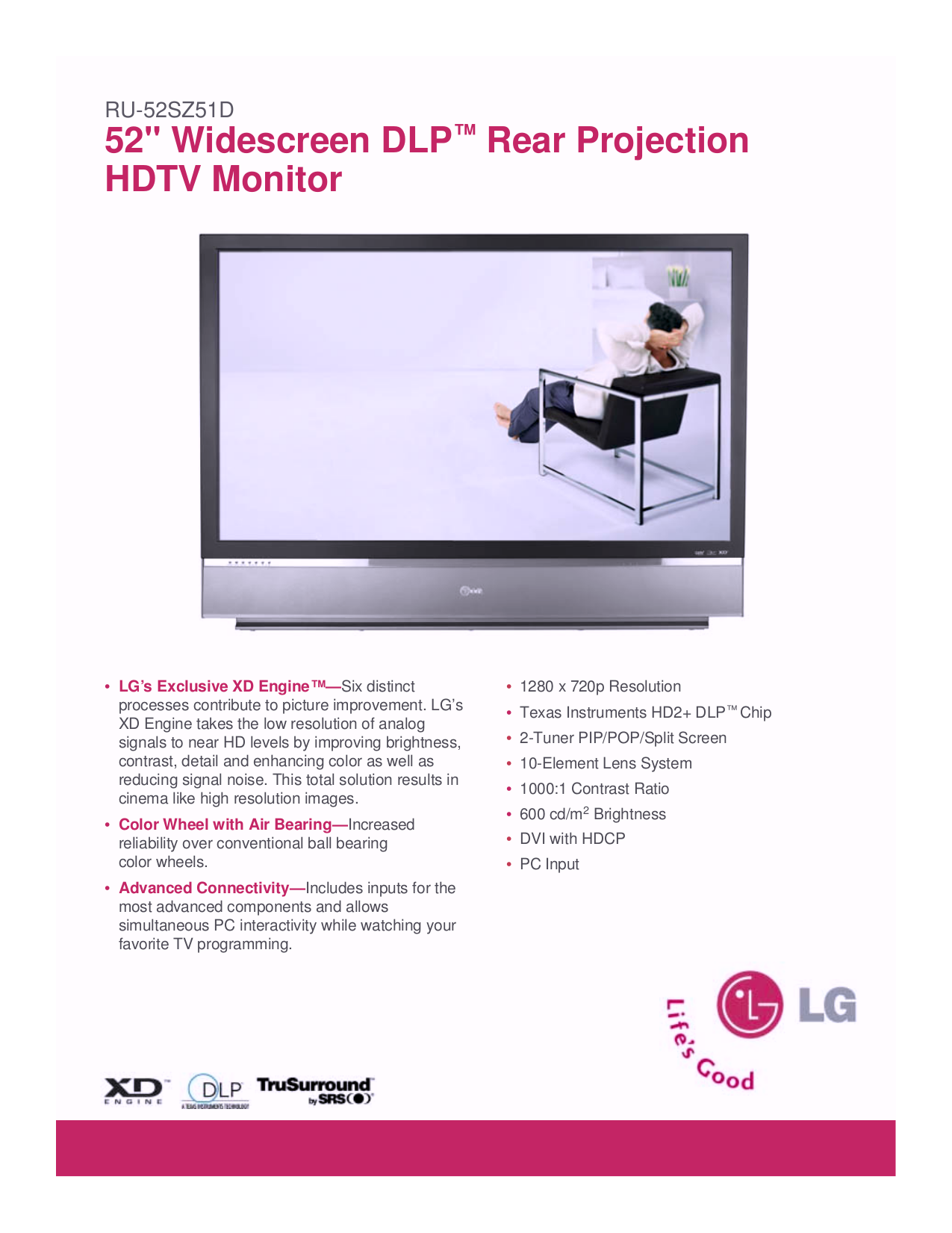 pdf for LG Other KDR-52FS TV Stands manual
