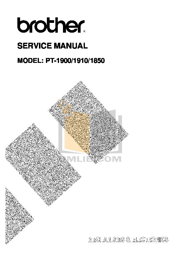pdf for Brother Printer PT-1910 manual
