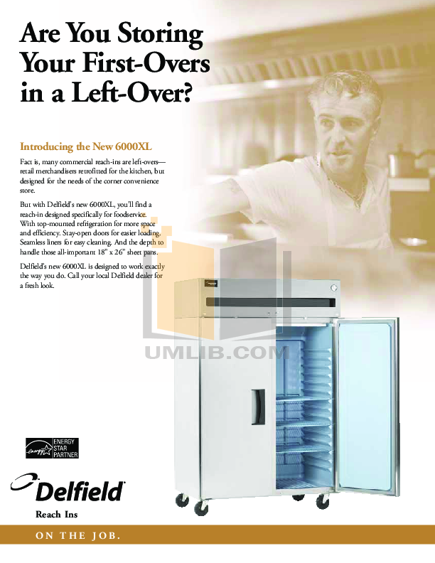 Delfield Refrigerator SSRRI3-G pdf page preview