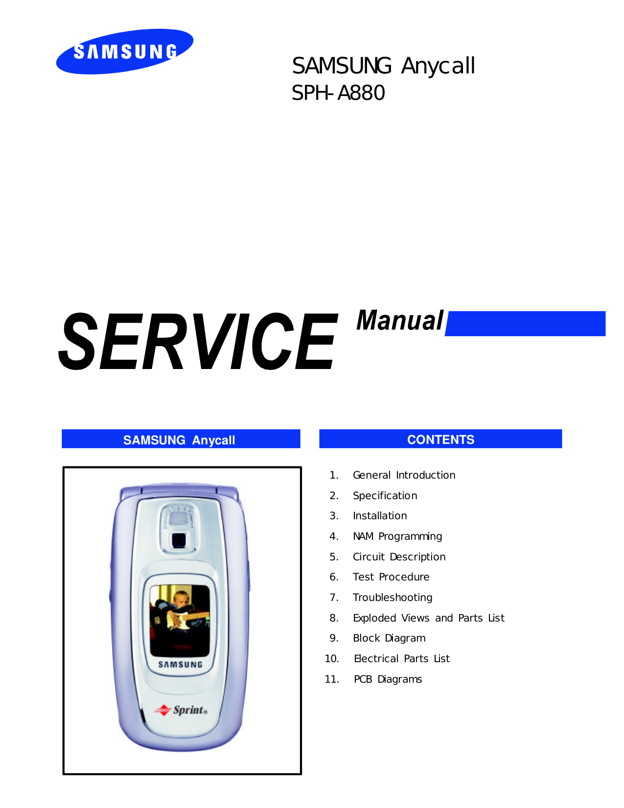 pdf for Samsung Cell Phone MM-A880 manual