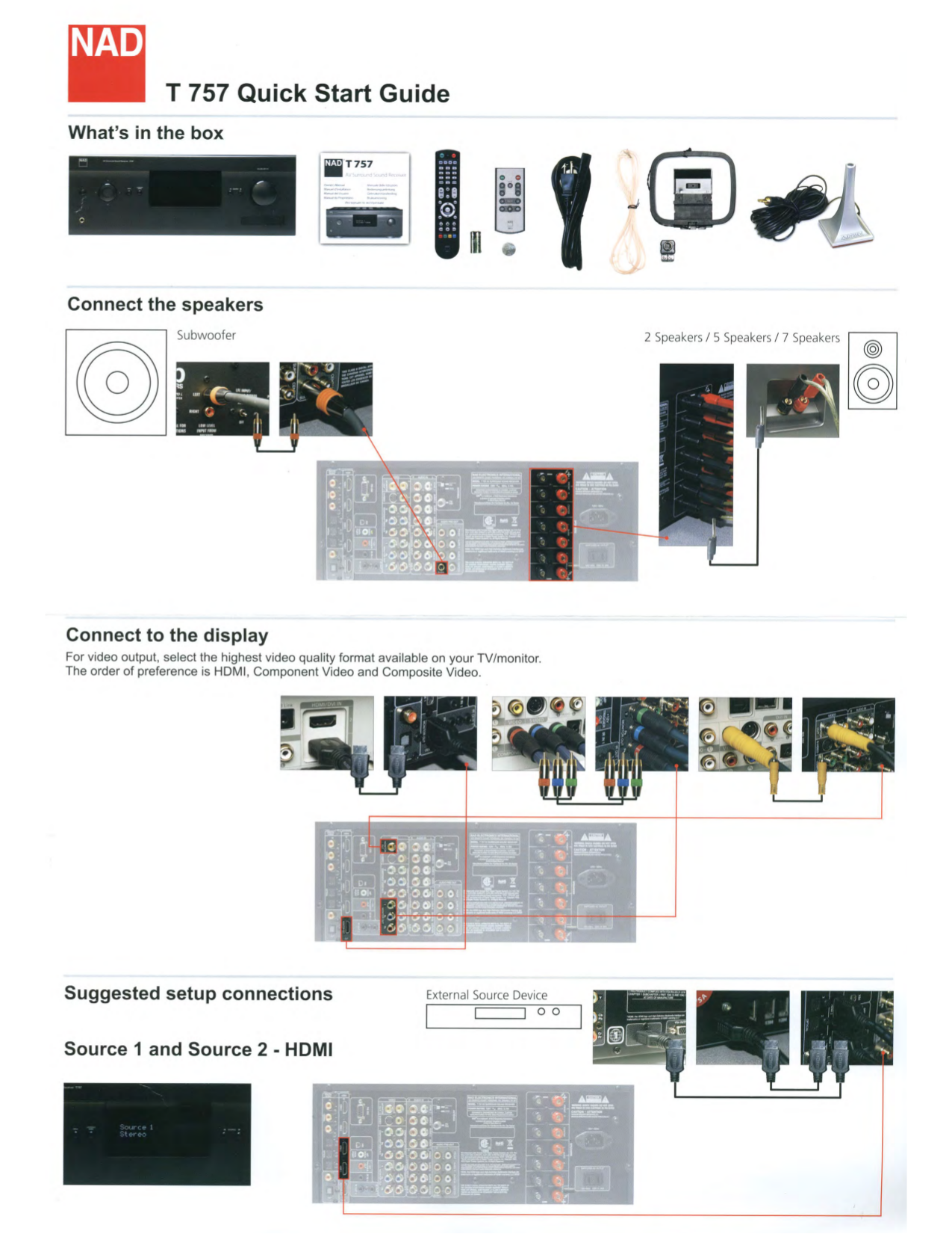 pdf for NAD Receiver T765 manual