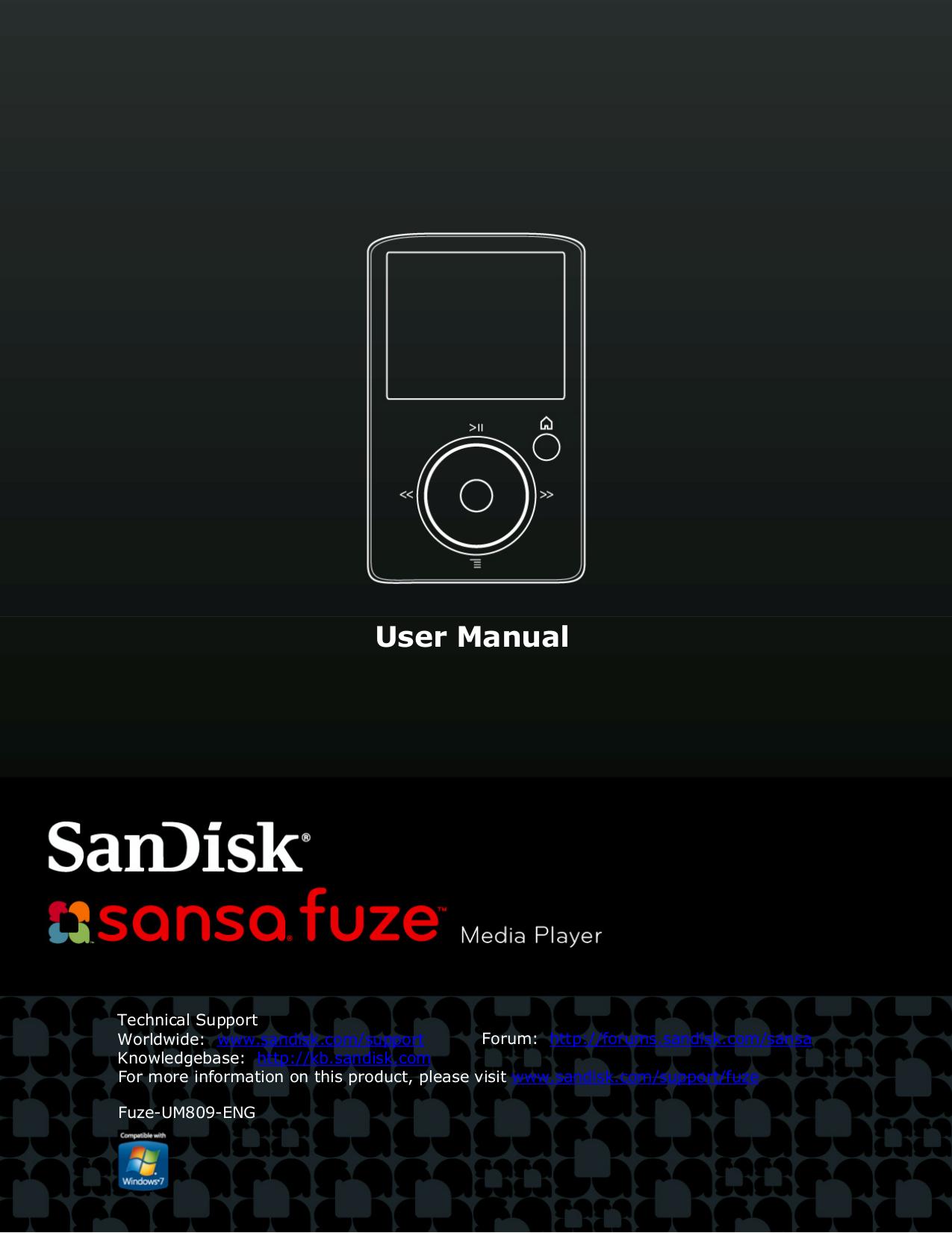 download free pdf for sandisk sansa sansa fuze 4gb mp3 player manual rh umlib com SanDisk Sansa Fuze Charger Sansa Fuze Software