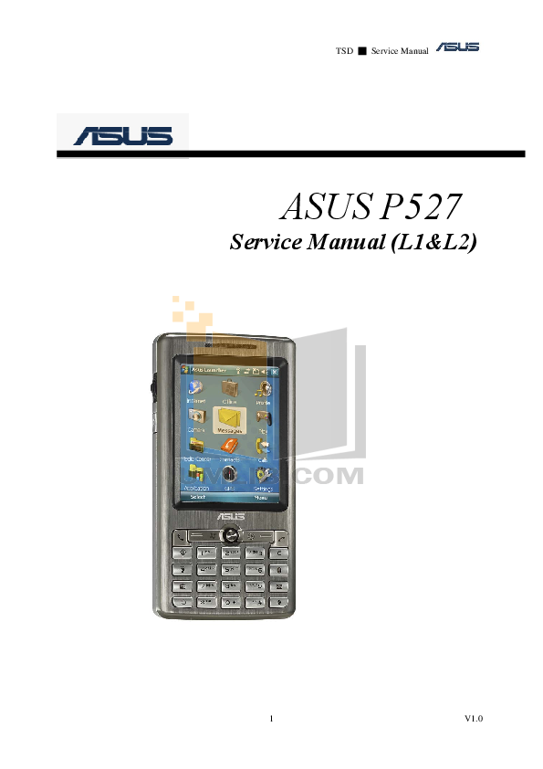 pdf for Asus Cell Phone P527 manual