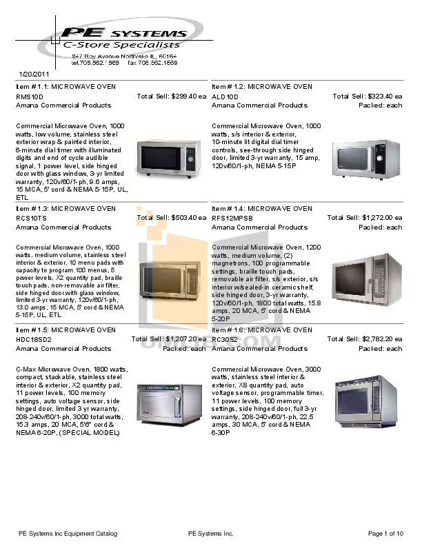 pdf for Cecilware Other 4K-GB-LD Dispensers manual