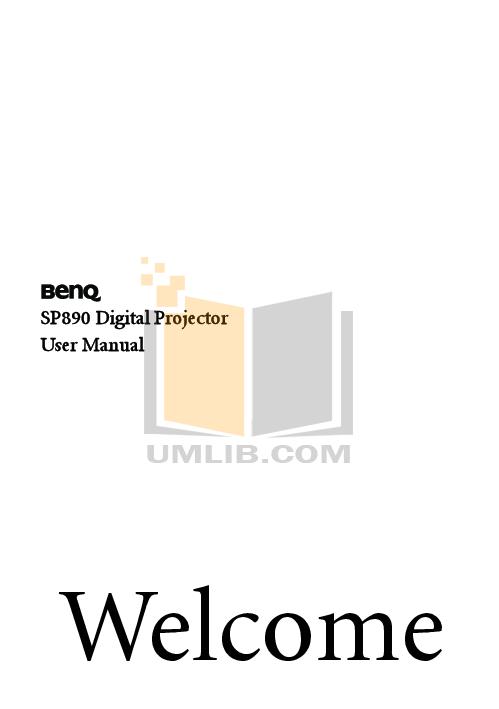 pdf for Benq Projector PB2120 manual