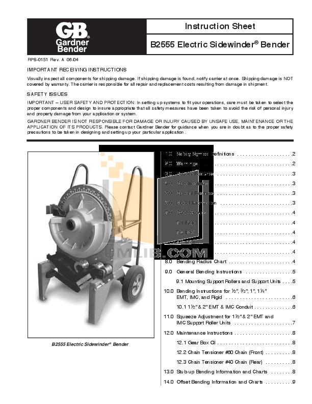 download free pdf for greenlee 555 benders other manual rh umlib com greenlee 555 bender instruction manual Greenlee 555 Bender Manual