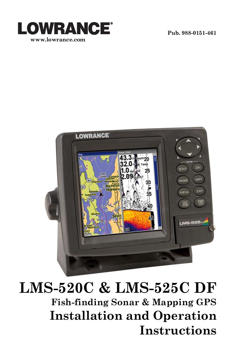 pdf for Lowrance GPS LMS-525C DF manual