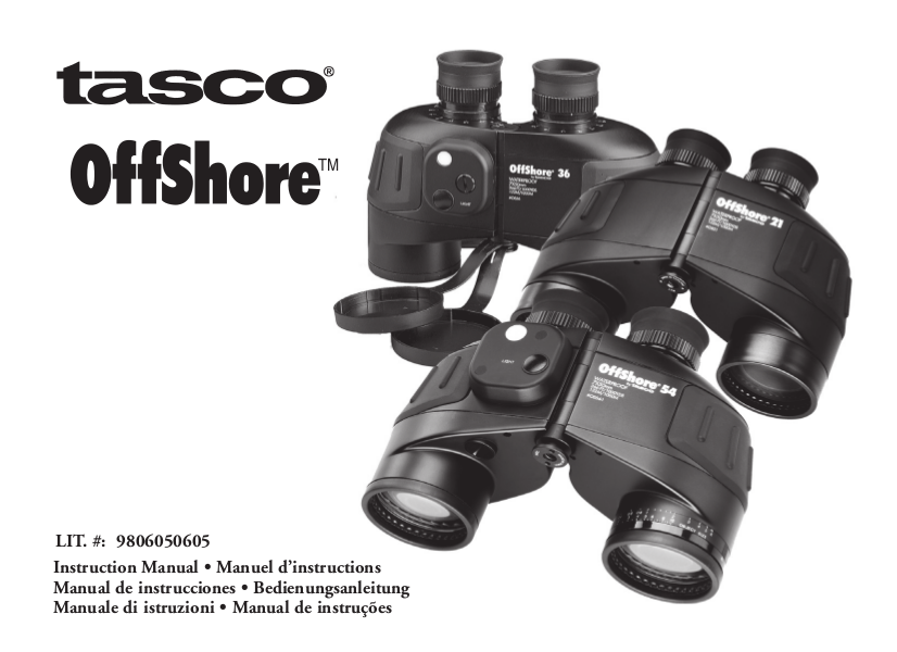 pdf for Tasco Binocular OffShore 54 manual