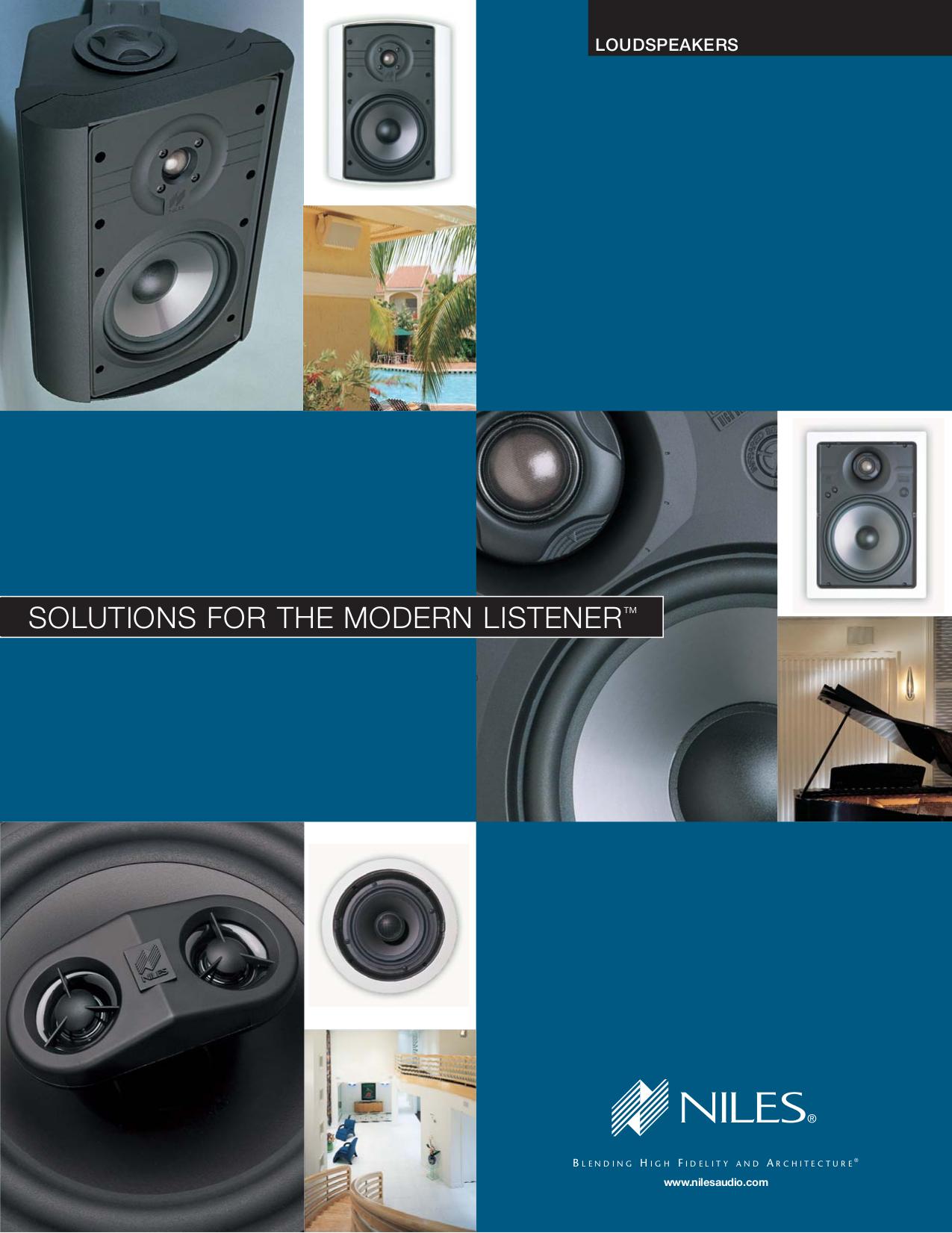 pdf for Niles Speaker CM650BG manual