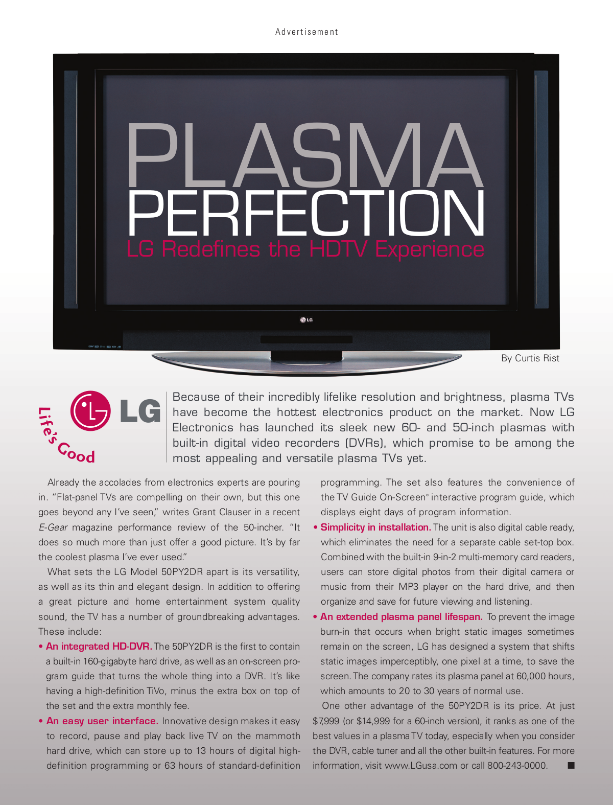 pdf for LG TV 50PY2DR manual