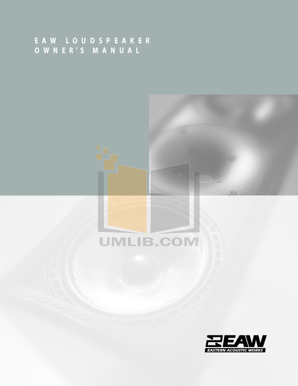 pdf for Eaw Speaker System LA118 manual