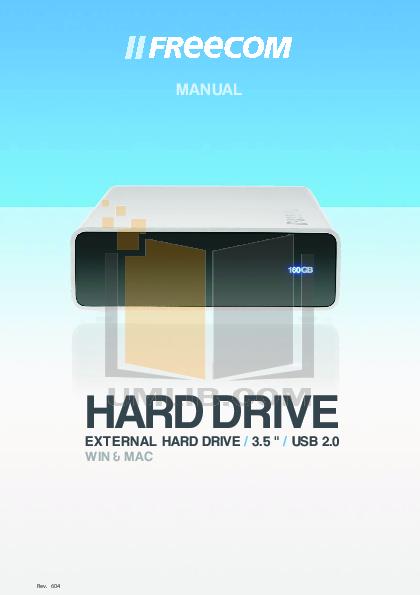 pdf for Freecom Storage Hard Drive PRO manual