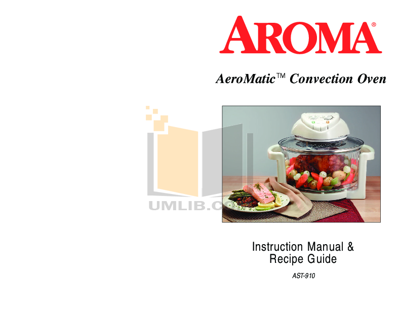 pdf for Aroma Oven AST-910 manual