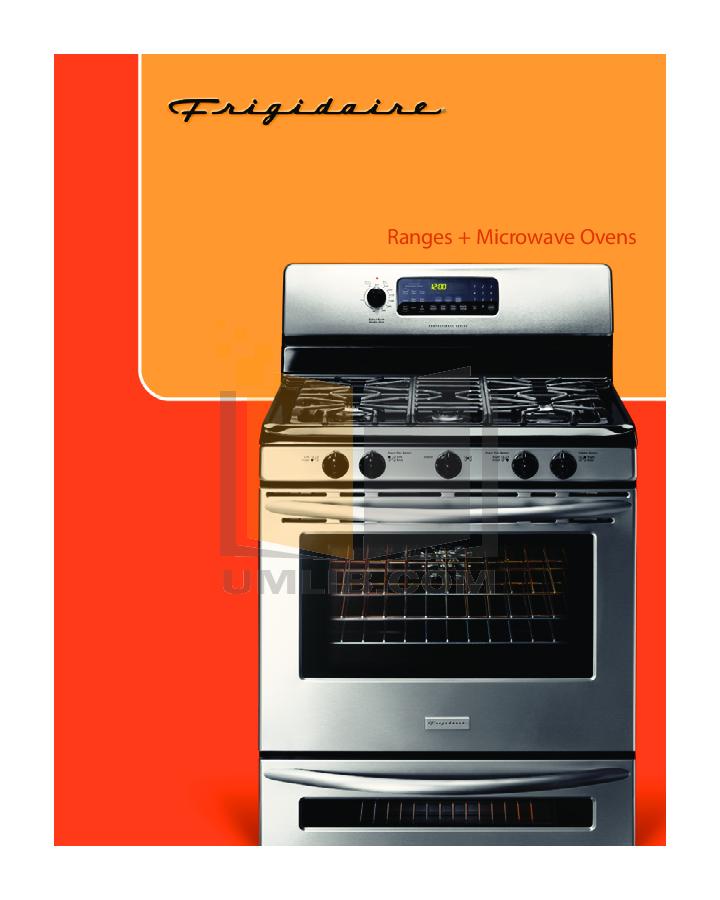 pdf for Frigidaire Range GLEFM397D manual