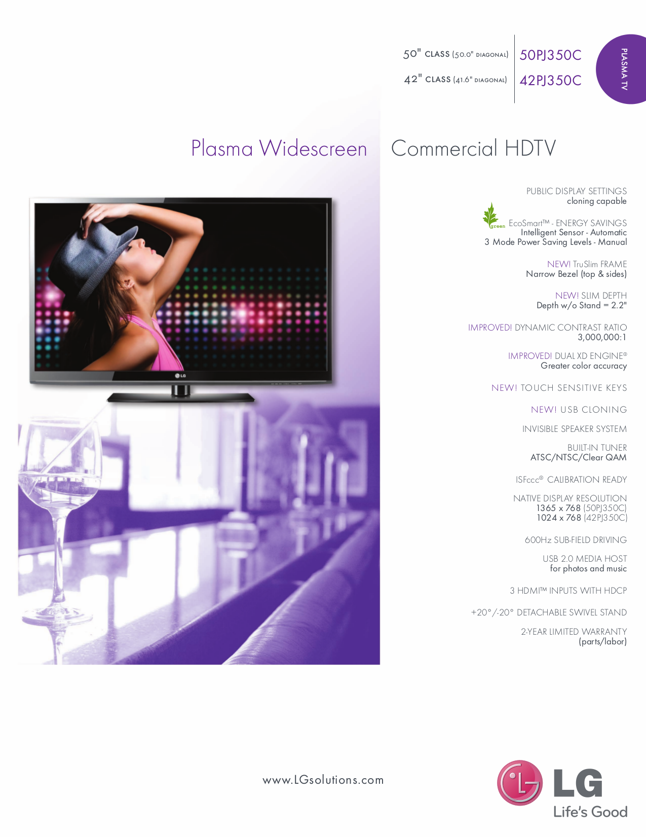 pdf for LG TV 42PJ350C manual