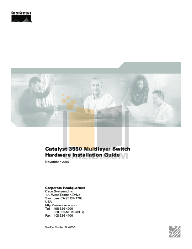 Download free pdf for Cisco Catalyst 3550-24 PWR Switch manual