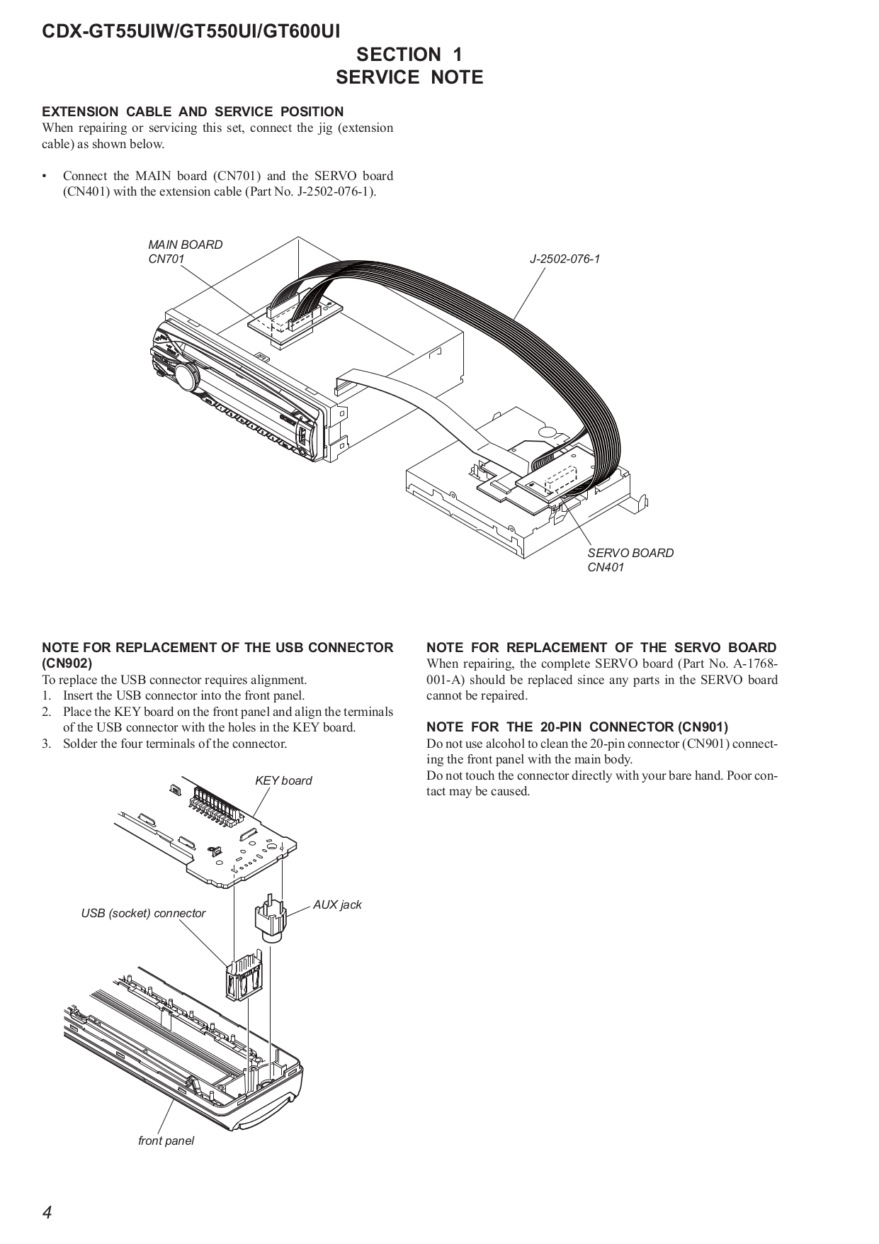 sony car receiver xplod cdx-gt55uiw pdf page preview