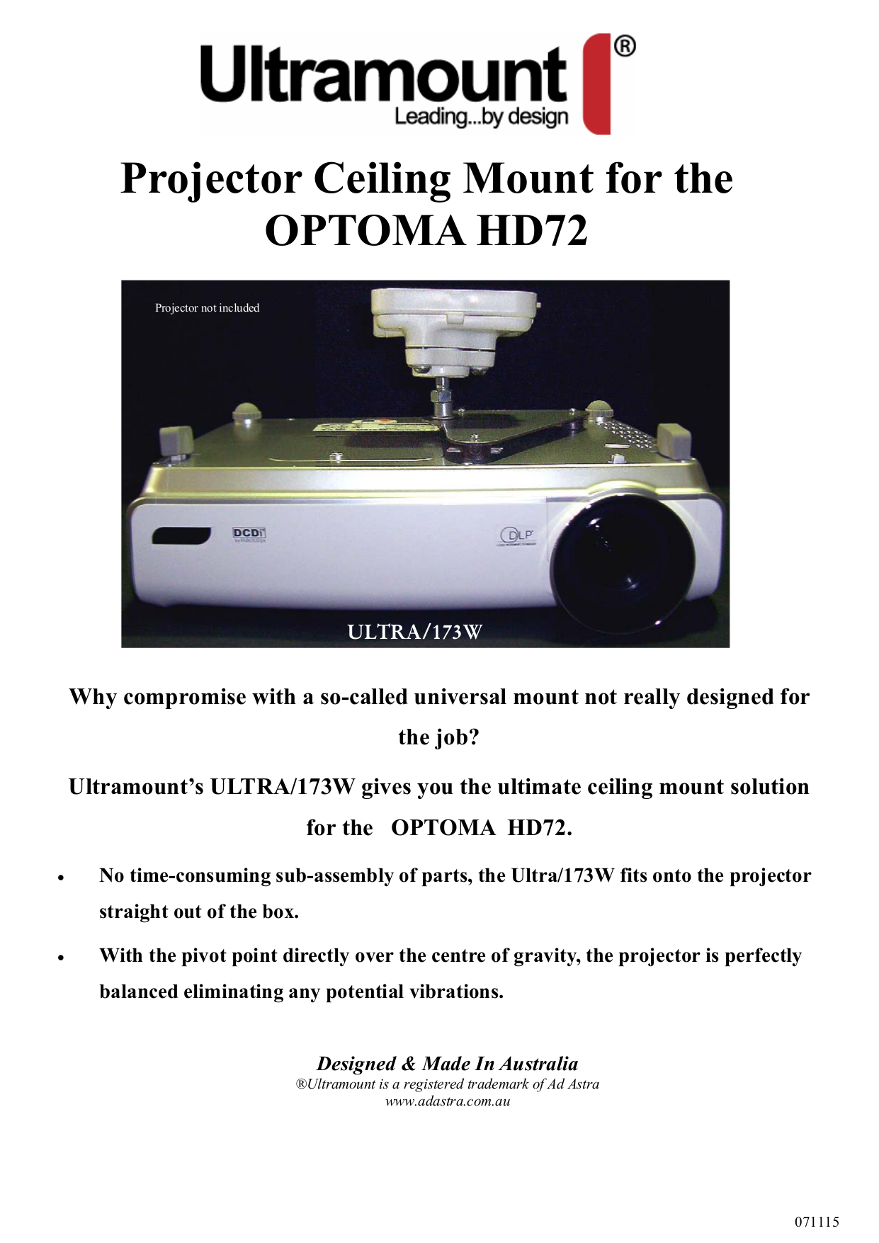 pdf for Optoma Projector HD72 manual
