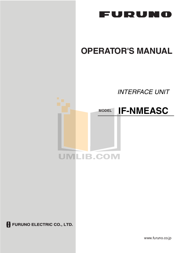 pdf for Furuno Other IF-5000 Interface Unit manual