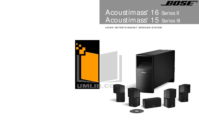 download free pdf for bose acoustimass 15 series i speaker system manual rh umlib com bose acoustimass 15 series ii specs bose acoustimass 15 series 3 manual