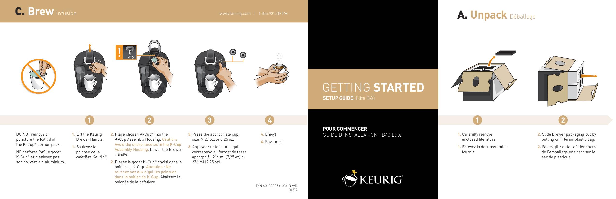 pdf for Keurig Coffee Maker Elite B40 manual