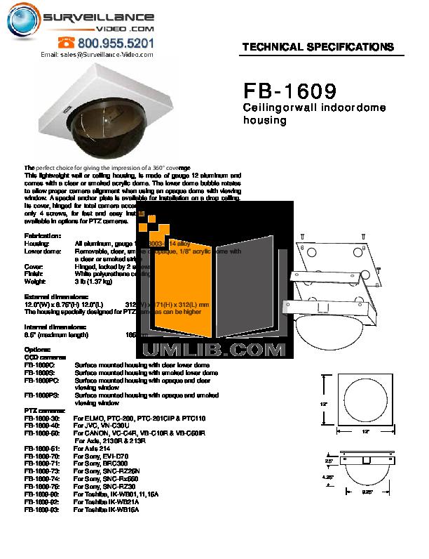 pdf for Elmo Security Camera PTC-201CIP manual