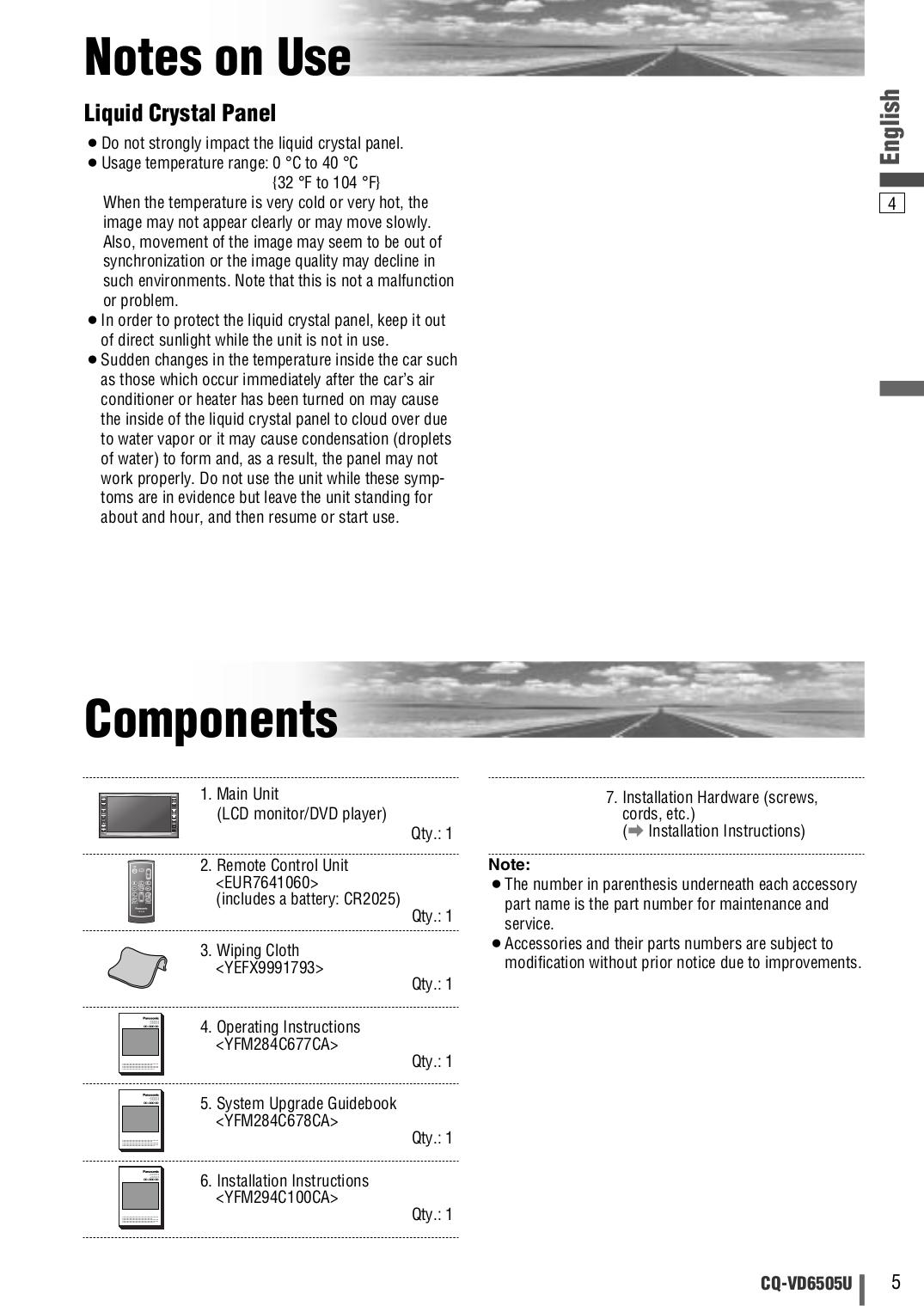 Panasonic Cq Vd6505u Wiring Diagram Trusted Diagrams D 104 Cb Mic Pdf Manual For Car Video Radio D104