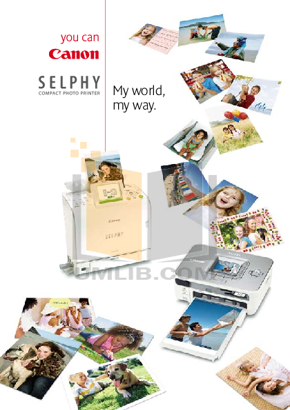 pdf for Canon Printer SELPHY CP770 manual