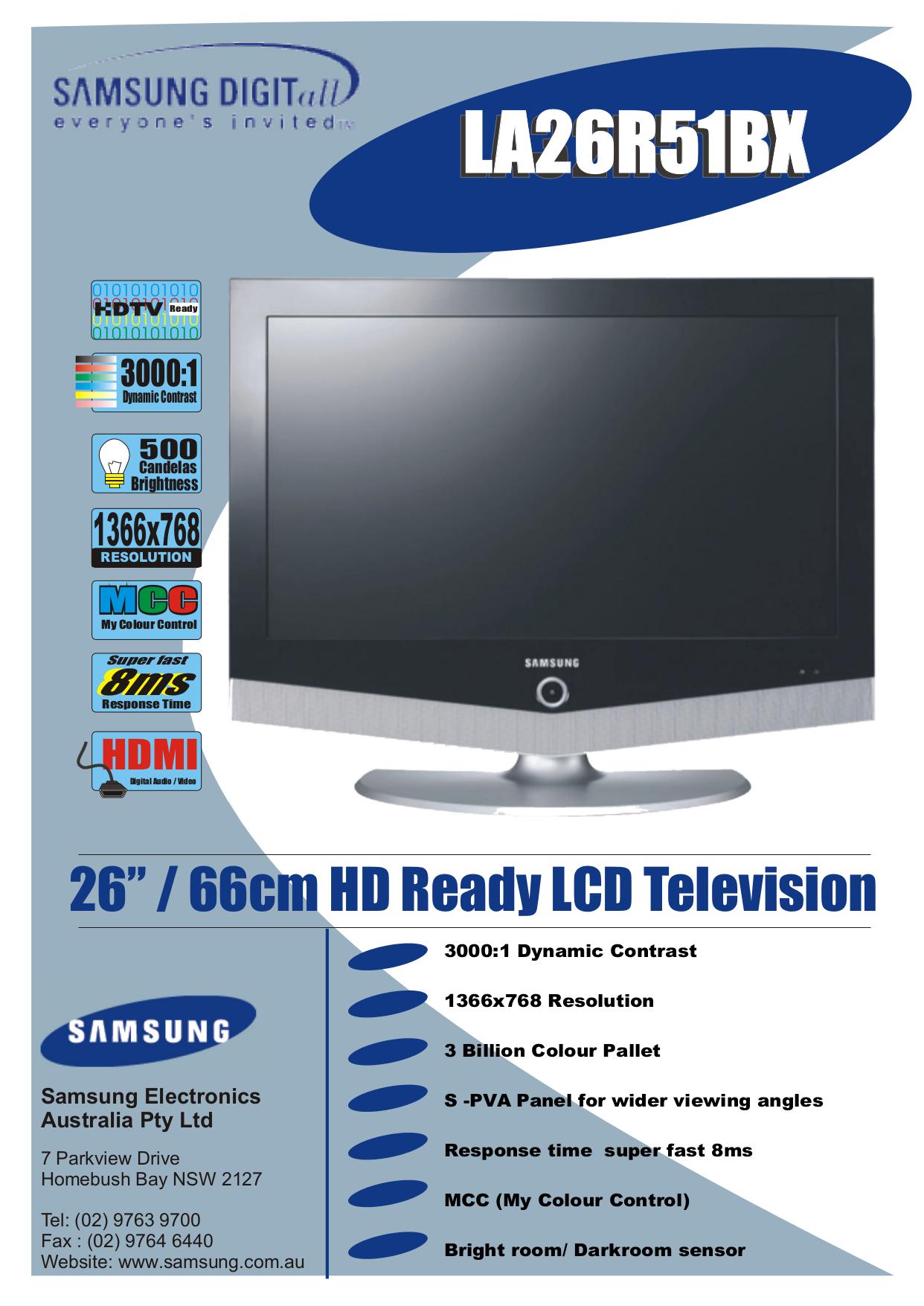 Manual Pdf tv Samsung P2270hn
