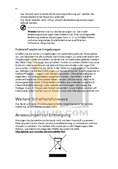 Acer Monitor V223W pdf page preview