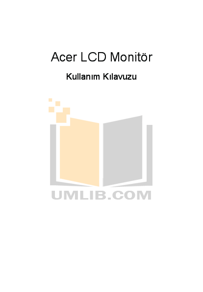 pdf for Acer Monitor V223W manual