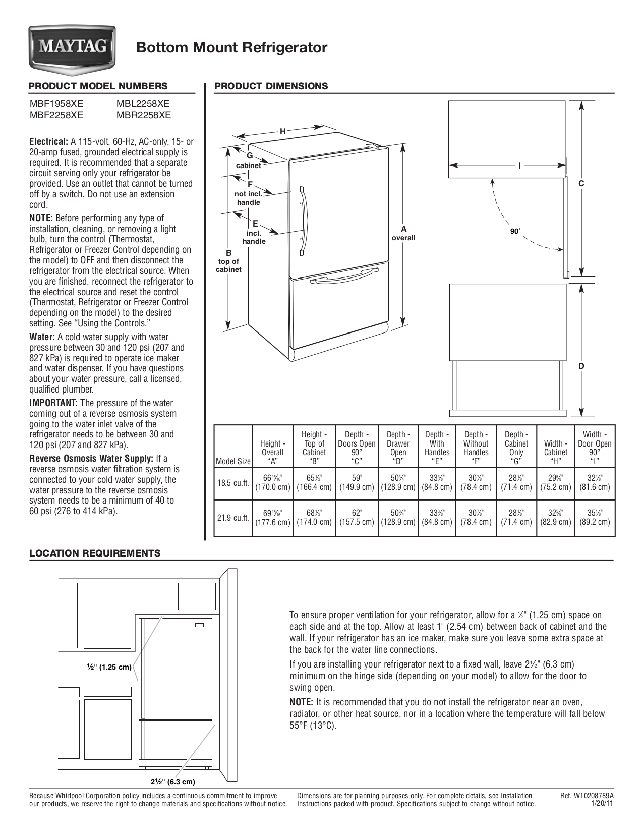 Download Free Pdf For Maytag Mbl2258xes Refrigerator Manual Schematic