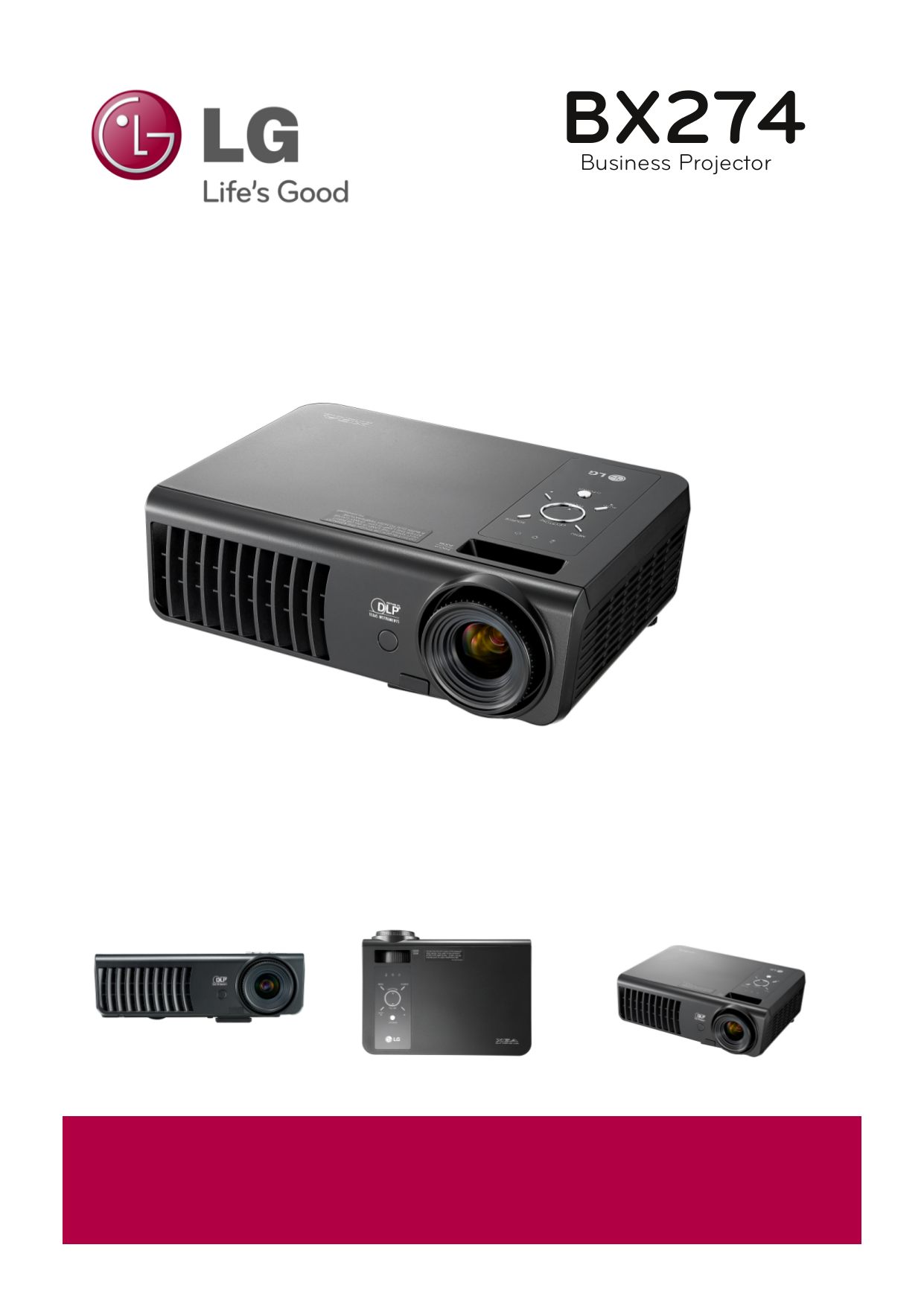 pdf for LG Projector BX274 manual