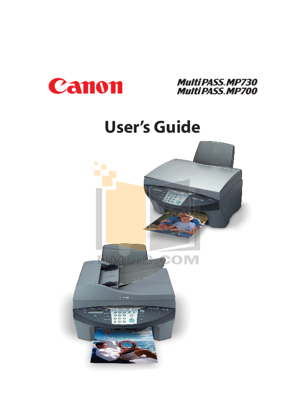 pdf for Canon Printer imageCLASS MP700 manual