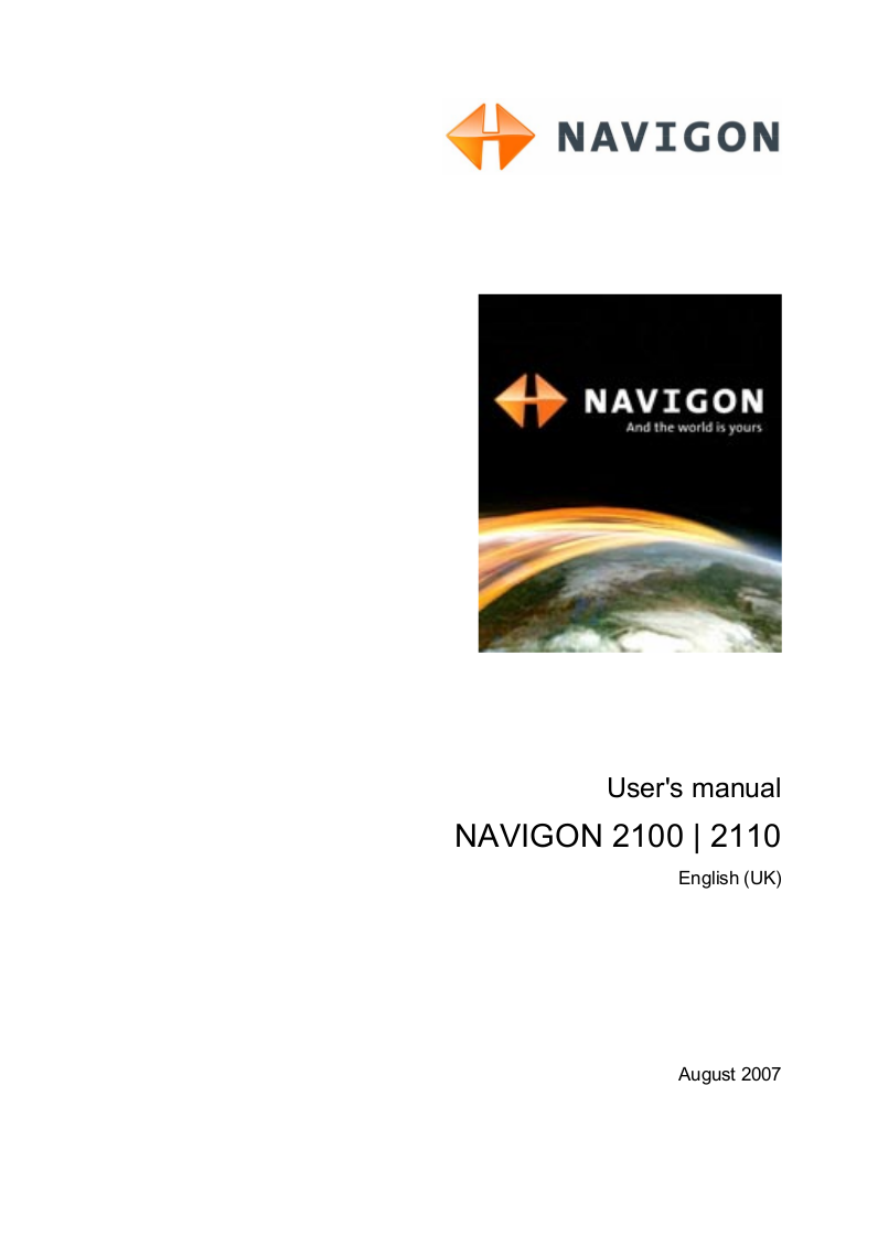 pdf for Navigon GPS 2110 manual