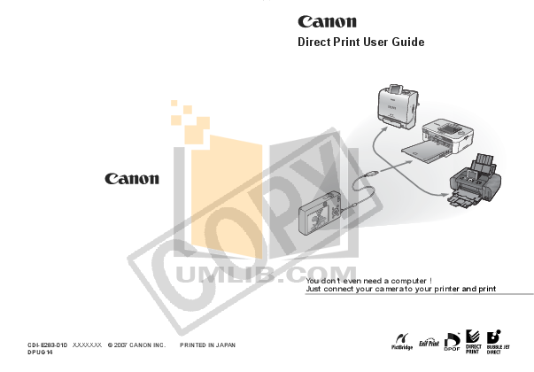 pdf for Canon Printer SELPHY CP720 manual