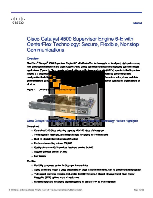 Cisco 4507r manual