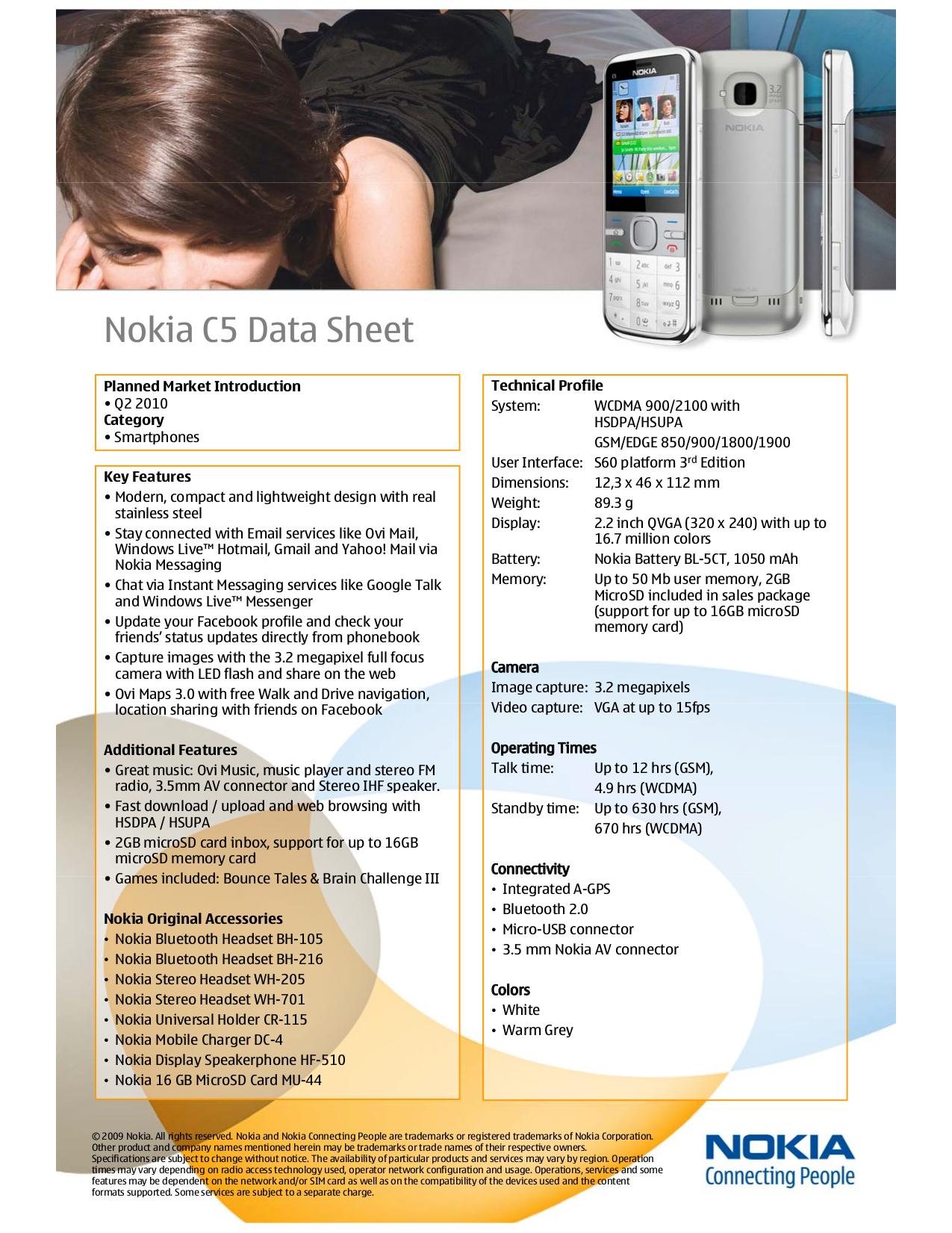 pdf for Nokia Headset BH-216 manual