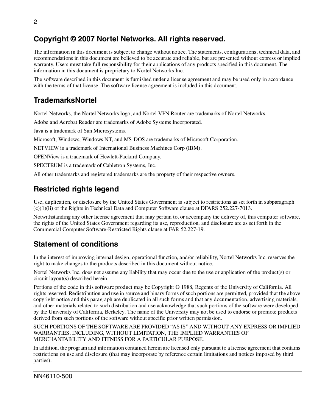 Nortel Wireless Router Contivity 1050 pdf page preview