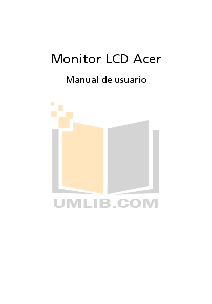 pdf for Acer Monitor X203H manual