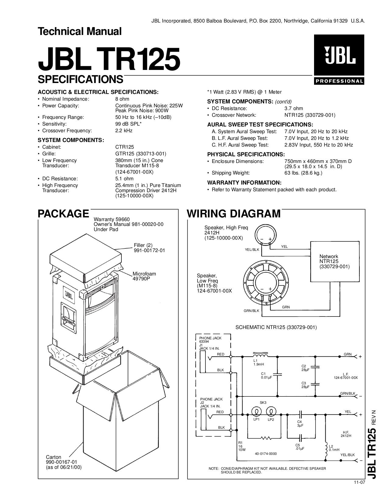 Jbl mpro 225 manual Jbl Mps Wiring Diagram on