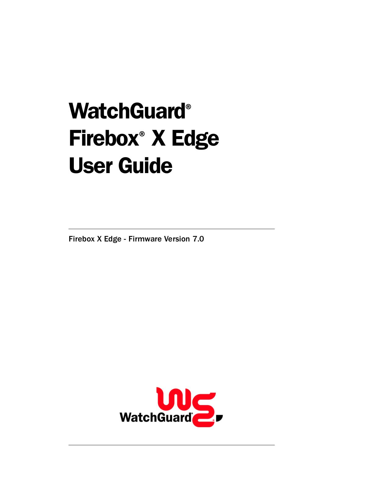 pdf for Watchguard Wireless Router Firebox X15-W manual