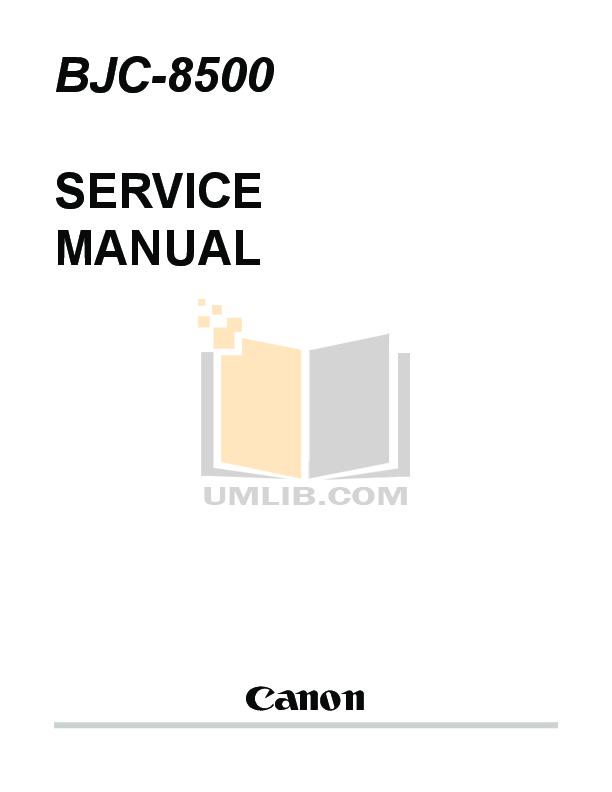 pdf for Canon Printer BJC-8500 manual